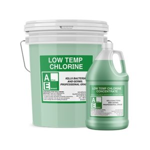 Low-Temp Chlorine 1-gallons, Commercial-Grade ($24.95/bottle, 4/case)