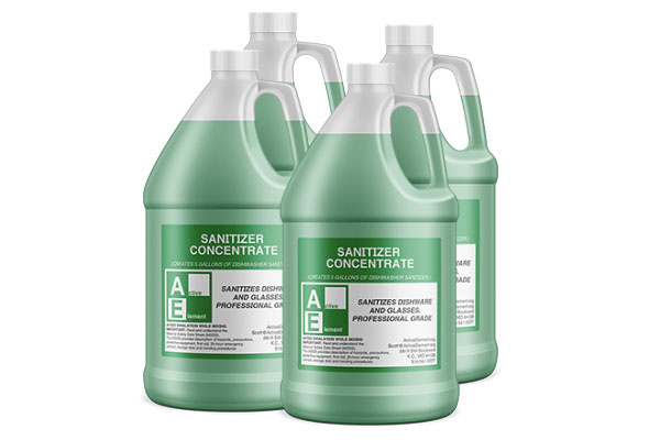 Dishwasher Sanitizer, Commercial-Grade, Each Bottle Makes a 5-gallon pail