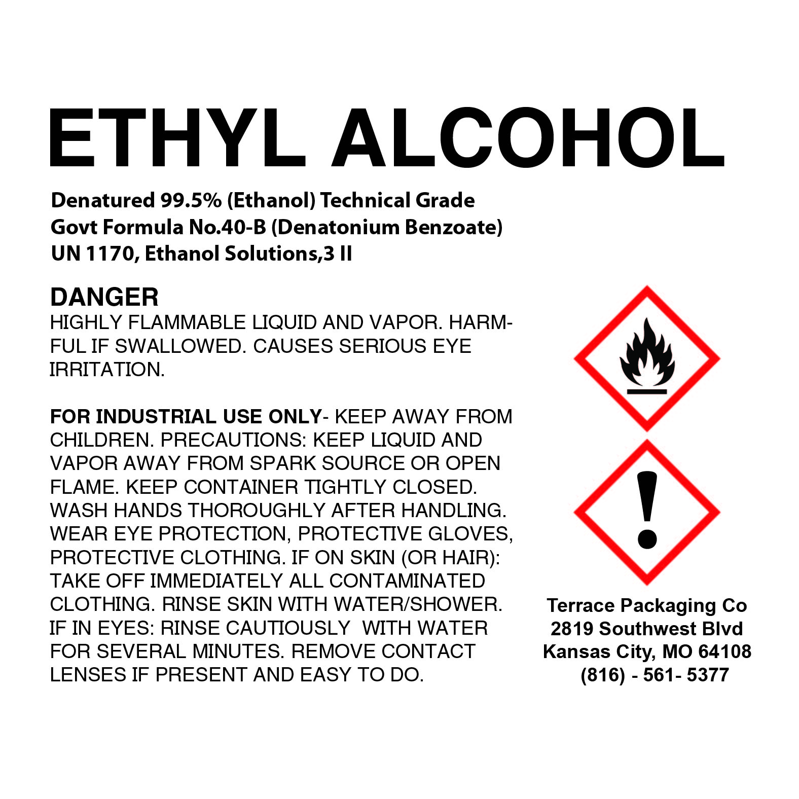 Ethanol 99.5% Denatured (Ethyl Alcohol),1-gallon (4-quarts)
